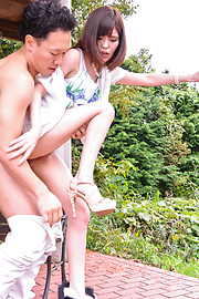 Yua Ariga - Tight schoolgirl enjoys cock in pussy for hours  - Picture 12