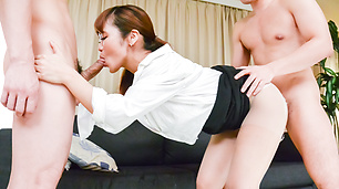 Sexy Asian Anju Akane group sex Japanese action