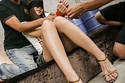 Momoka Rin gets creampied in a japanese orgy Photo 2