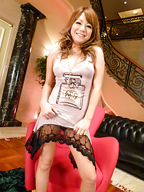 Cocoa Ayane - Cocoa Ayane gives a japan blowjob to two guys - Picture 3