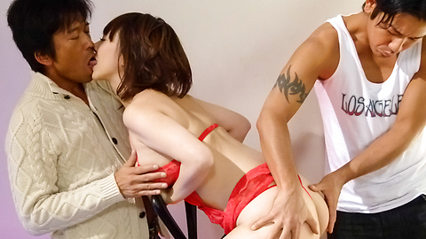 Arisa Araki - Arisa Araki dresses for an asian creampie gangbang - Picture 1