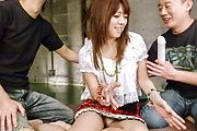 Nasty gang bang with insolent teen Miyu Aoi  Photo 2