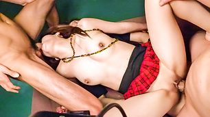 An asian blow job leads to a DP fucking with Miyu Aoi