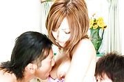 Two At A Time For Horny MILF Aika's Pussy Photo 6