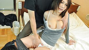 Miyu Ninomiya with huge asian tits creampied