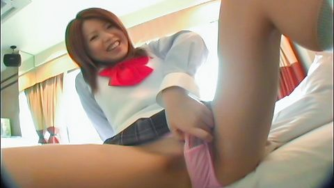 Wakana - Asian blow job with steamy Akana in need for sex - Picture 3