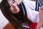 Pretty Yukari teenage school girl stripping off and masturbating Photo 12