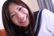 Pretty Yukari teenage school girl stripping off and masturbating Photo 5