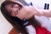 Pretty Yukari teenage school girl stripping off and masturbating Photo 9