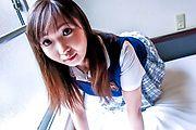 Busty Schoolgirl Haruka Ohsawa Creampied in POV Photo 7