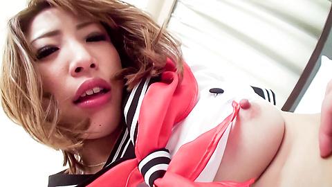 Aya Sakuraba - 穿著校服的Aya Aya Sakurababa熱逼操 - 圖片6