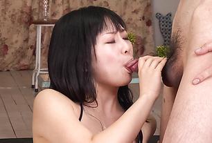Sexy Teen Cock Sucker Nozomi Hatsuki Blows Two Guys