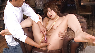 Toy asian insertions with Ririsu Ayaka's MILF pussy