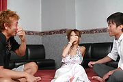 Fantastic Asian gangbang with superb Ema Kisaki Photo 3