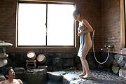 Premium Japanese group sex with naked Hitomi Oki Photo 1