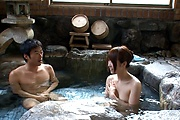 Premium Japanese group sex with naked Hitomi Oki Photo 2