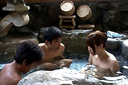 Premium Japanese group sex with naked Hitomi Oki Photo 6