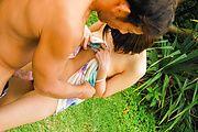 Fantasy Asian outdoor sex with petite Saya Tachibana Photo 10