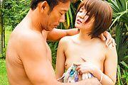 Fantasy Asian outdoor sex with petite Saya Tachibana Photo 11