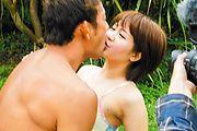 Fantasy Asian outdoor sex with petite Saya Tachibana Photo 5