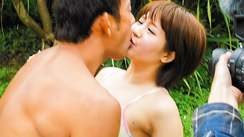 Saya Tachibana - Outdoor Asian blowjob by hot Saya Tachibana  - Picture 5
