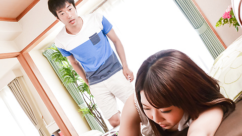 Yui Sakura - Yui Sakura provides Japanese blowjob before sex  - Picture 9
