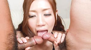 お嬢様のWフェラご奉仕~前田かおり