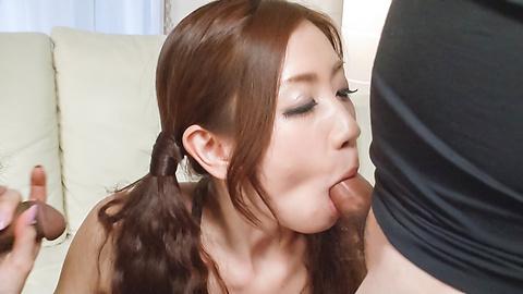 Kaori Maeda - Asian blow job with sweet Japanese Kaori Maeda - Picture 6