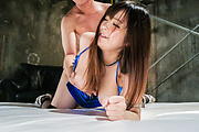 Babe with big tits, insane hardcore Asian tryout  Photo 6