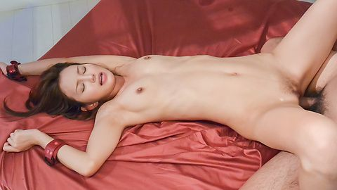Hot Asian babe drives full cock in her tight holes