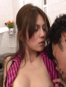 Ameri Ichinose - Ameri Ichinose pounded in stockings after an asian blow job - Screenshot 12