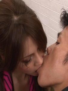Ameri Ichinose - Ameri Ichinose pounded in stockings after an asian blow job - Screenshot 2