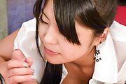 Eririka Katagiri gives a japanese blowjob in POV Photo 12