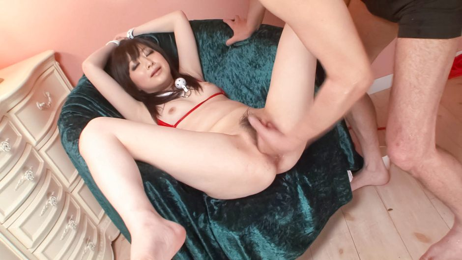 Asuka Mimi's hairy pussy asian squirting