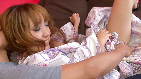 Yuki Mizuho - น่ารักนะ ยูกิ มิซูโฮะแกล้งลูบไล้ด้วยความรักและเย็ดในชุดกิโมโนของเธอ -  1 รูปภาพ
