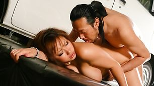 Horny japanese milf Neiro Suzuka entices him with her big tits