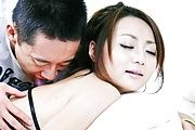 Yuu Shiraishi's shaved pussy squirts and gets creampied Photo 3