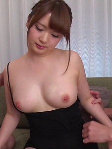 Yui Nishikawa - Passionate woman applies sensual blowjob on dicks  - Screenshot 12