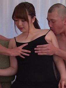 Yui Nishikawa - Passionate woman applies sensual blowjob on dicks  - Screenshot 4
