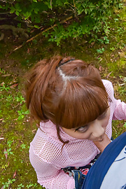 Anna Anjo - Sexy Anna Anjo gives Japanese blowjob in outdoor  - Picture 11