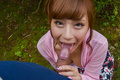 SexyAnna Anjo gives Japanese blowjob in outdoor