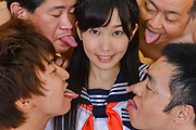 Sweet Japanese gangbang along Yui Kasuganoq Photo 5