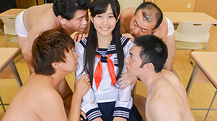 Yui Kasugano amazing Asian schoolgirl sex scenes