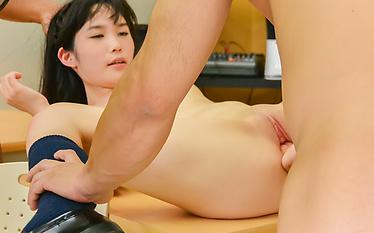 Creampie Asian scenes along skinnyYui Kasugano