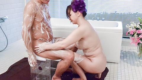 Maya Mizuki - Soapy porn show along chubby Japanese wife,Maya Mizuki - Picture 12