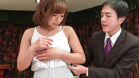 Sara Saijo - Curvy ass Sara Saijo mind blowing scenes of Asian blow job  - Picture 4