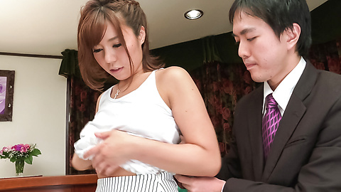 Sara Saijo - Curvy ass Sara Saijo mind blowing scenes of Asian blow job  - Picture 5