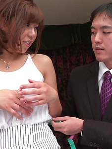 Sara Saijo - Curvy ass Sara Saijo mind blowing scenes of Asian blow job  - Screenshot 7