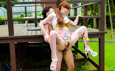 Crazy outdoor porn play with insolent Aya Mikami