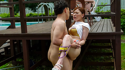 Aya Mikami - Crazy outdoor porn play with insolent Aya Mikami - Picture 10